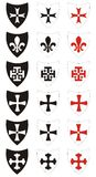 Symboles héraldiques Images stock