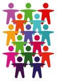 Symboles humains de diversité Image stock