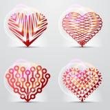 Symboles initiaux de coeur (graphismes, signes). Image libre de droits