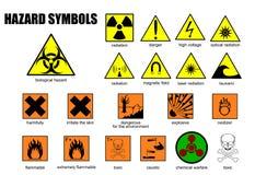 Symboles internationaux du danger illustration de vecteur