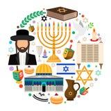 Symboles juifs de vacances illustration stock