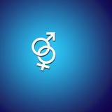 Symboles mâles et femelles Photos libres de droits