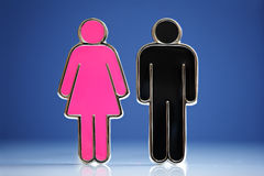 Symboles mâles et femelles Photo stock