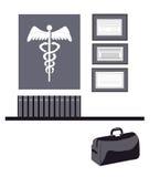 Symboles médicaux d'isolement Photos stock