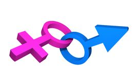Symboles masculins et femelles photo libre de droits