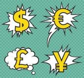 Symboles monétaire Photographie stock libre de droits