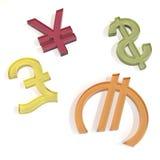 symboles monétaires Photographie stock libre de droits