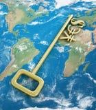 Symboles monétaires d'or Photo libre de droits