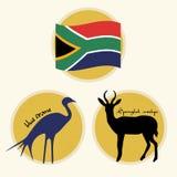Symboles nationaux de l'Afrique du Sud illustration de vecteur