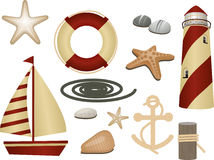 Symboles nautiques Photo stock