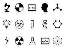 Symboles noirs de la science Photographie stock