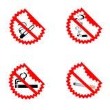 Symboles non-fumeurs modernes Images libres de droits