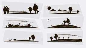 Symboles (normaux) de village Photographie stock libre de droits