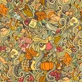 Symboles, nourriture et boissons d'automne de thanksgiving Photo libre de droits