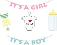 symboles nouveau-nés de chéri illustration stock