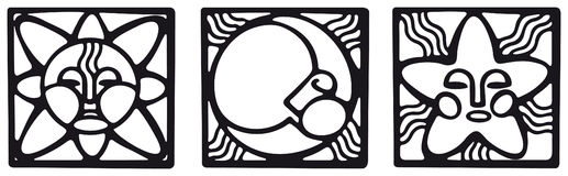 Symboles païens Photo stock