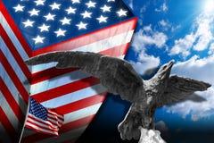Symboles patriotiques des Etats-Unis Photo libre de droits