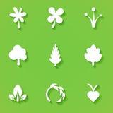 Symboles plats d'eco Photo stock