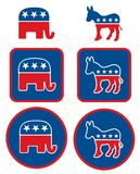 Symboles politiques des Etats-Unis illustration stock