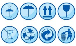 Symboles pour des sujets d'emballage. Images stock