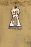 Symboles religieux à Jodhpur, Inde Photos libres de droits
