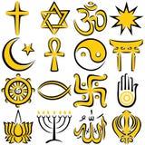 Symboles religieux Photo libre de droits