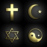 Symboles religieux Image libre de droits