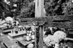 Symboles religieux catholiques Photo stock