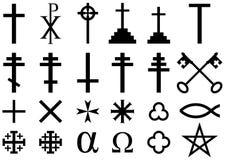 Symboles religieux chrétiens Photo stock