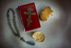 Symboles religieux chrétiens orthodoxes de la foi et de la vie intérieure spirituelle images libres de droits