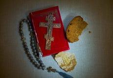 Symboles religieux chrétiens orthodoxes de la foi et de la vie intérieure spirituelle image libre de droits