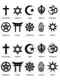 Symboles religieux ENV Photo libre de droits