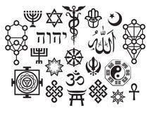 Symboles religieux sacrés orientaux Photos libres de droits
