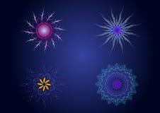 Symboles sacrés de couleur de la géométrie de vecteur Images stock