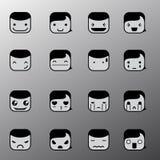 Symboles simples de visage d'émotion Image stock