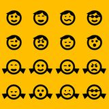 Symboles souriants Photo stock