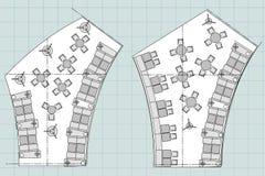 Symboles standard de meubles utilisés dans des plans d'architecture Image libre de droits