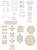 Symboles standard utilisés dans des plans d'architecture Photos libres de droits