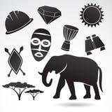 Symboles traditionnels de l'Afrique Photographie stock