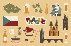 Symboles traditionnels de la République Tchèque Photos stock
