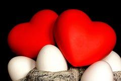Symboles voor liefde en het leven Stock Fotografie
