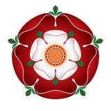 """Symbolet """"skuggade illustrationen för †""""för den Tudor Dynasty Rose â€det engelska Royaltyfri Fotografi"""