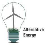 Symbolet av den alternativa energin Arkivbilder