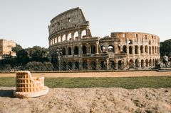 Symbolet av Rome, amfiteatern av Colosseumen, Royaltyfri Bild