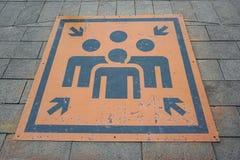 Symbolet för enhetspunkt på vaggar väggen Fotografering för Bildbyråer