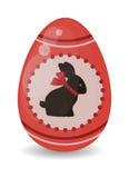 Symbolet för garnering och för mat för vår för tecknad film för det färgeaster ägget sänker vektorillustrationen royaltyfri illustrationer