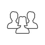 Symbolet för ledarskap för kvinna` s, folk fodrar symbolen vektor illustrationer