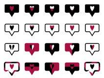 Symbolet gillar svart vektor illustrationer