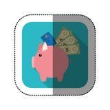 symbolet sparar pengarsvinsymbolen Arkivfoto