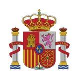 Symbolflagga av Spanien, vektorillustration Arkivbild